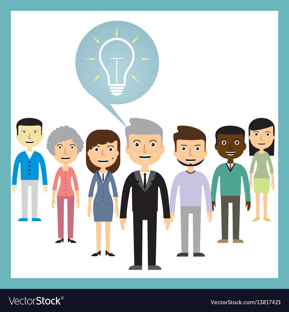 Leadership concept - different ideas from the