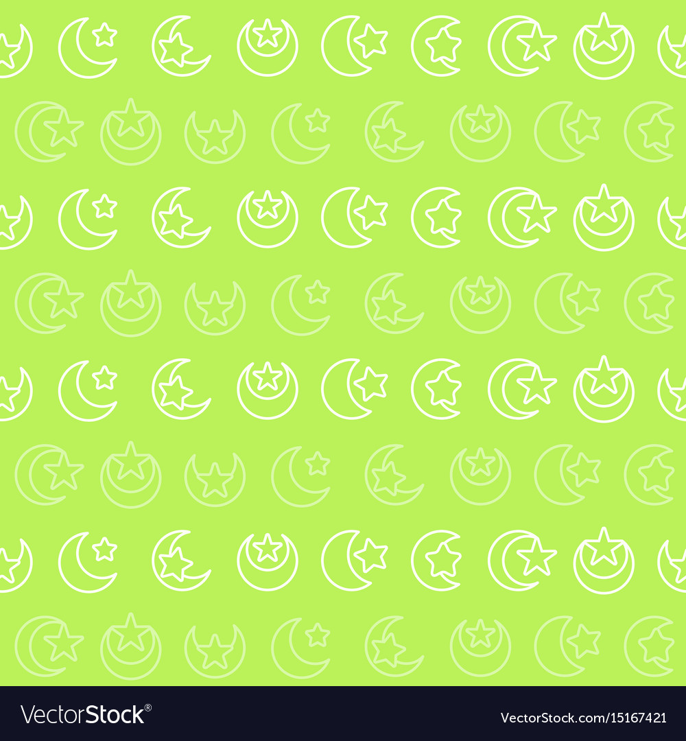 Seamless pattern with symbol of islam vector image