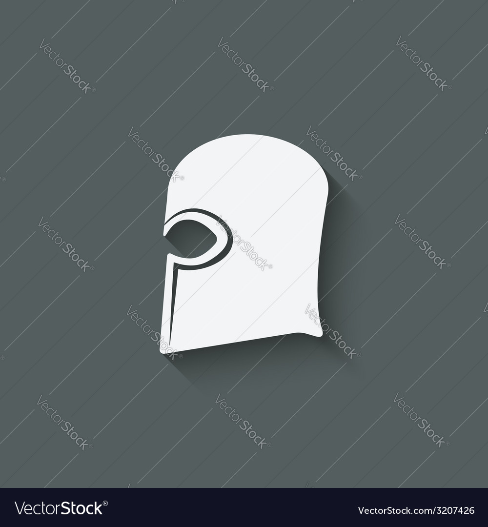 Antique helmet symbol