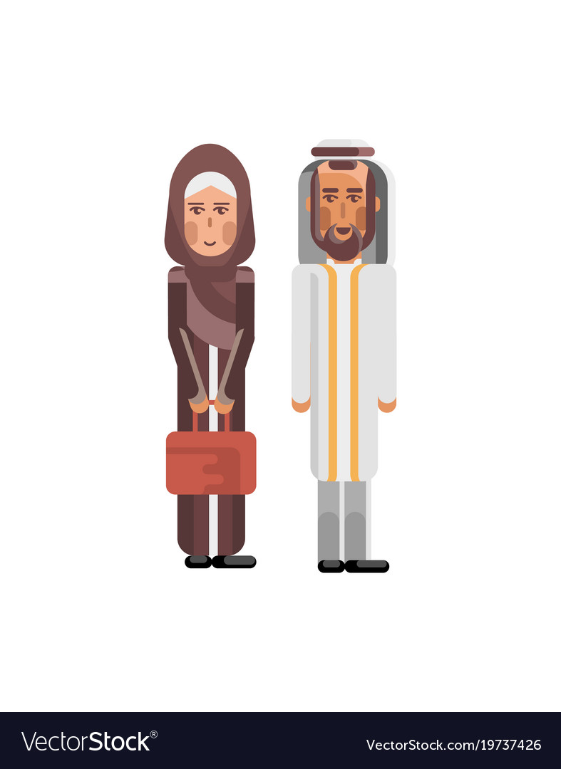 Arabic couple in national clothes