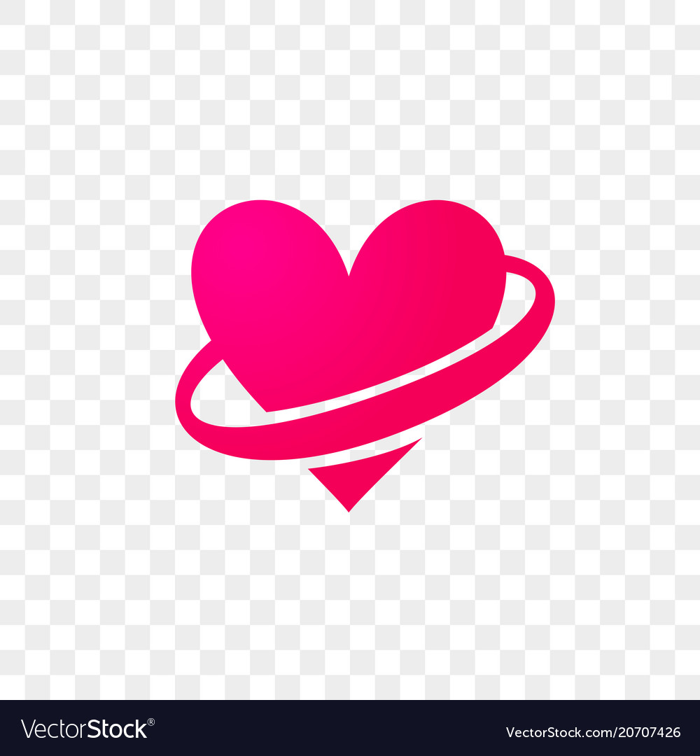 Heart logo modern abstract flat icon