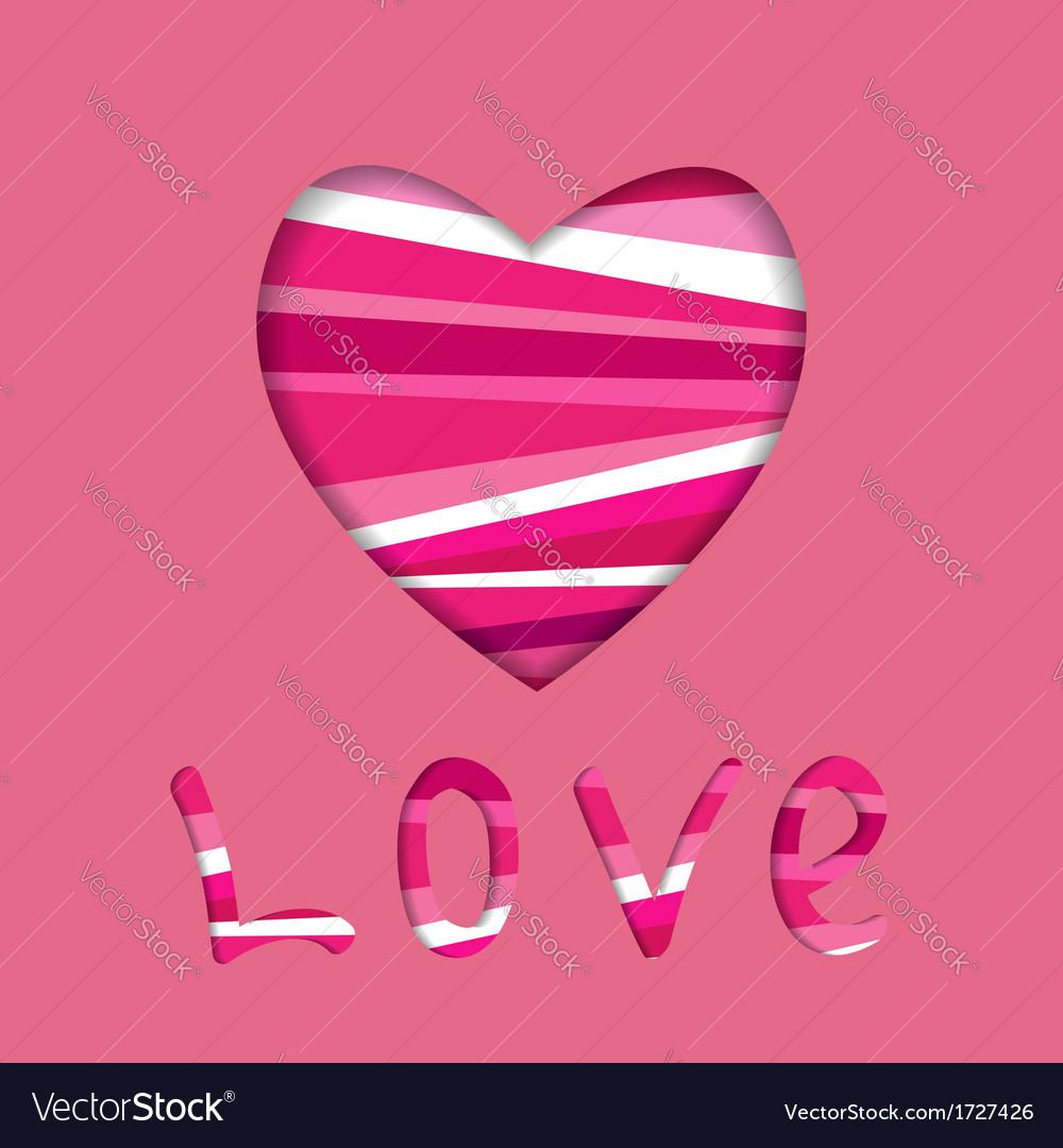 Heart symbol cut in paper