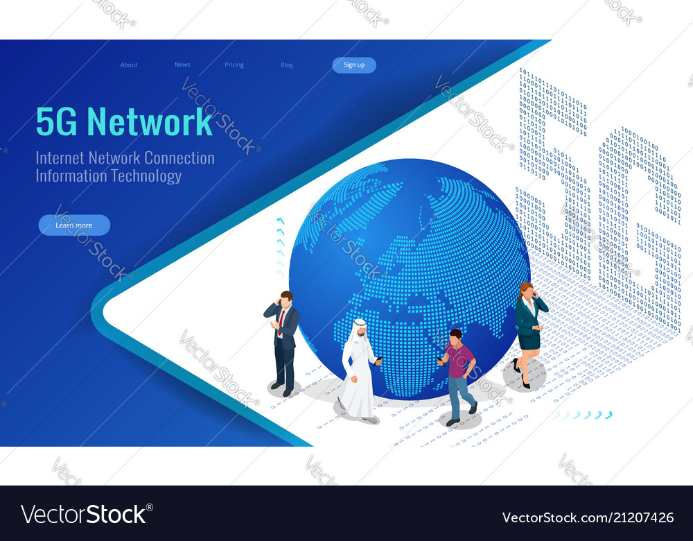 Isometric 5g network wireless systems and internet
