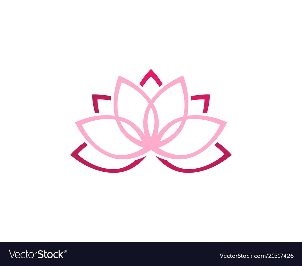 lotus flower logo and symbols template icon vector image