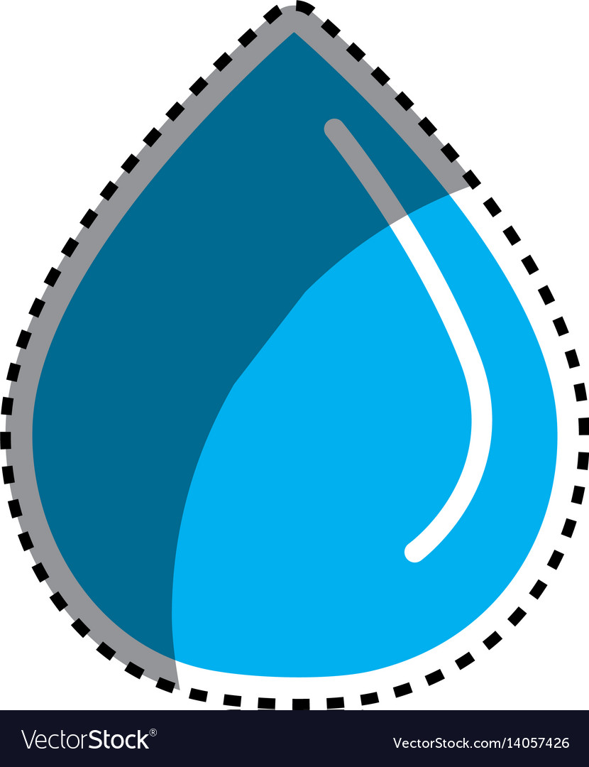 Sticker blue water drop save eco