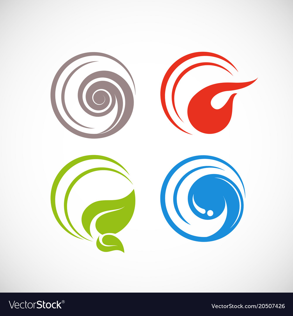 The Four Elements Of Nature Vector Image