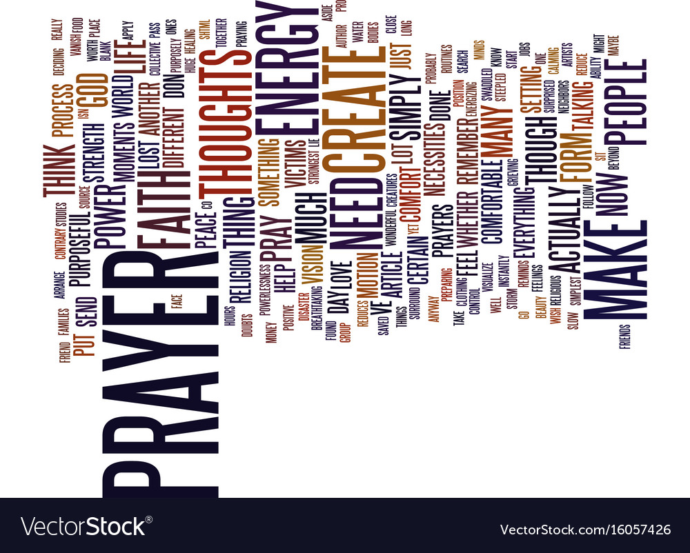 The incredible power of prayer text background