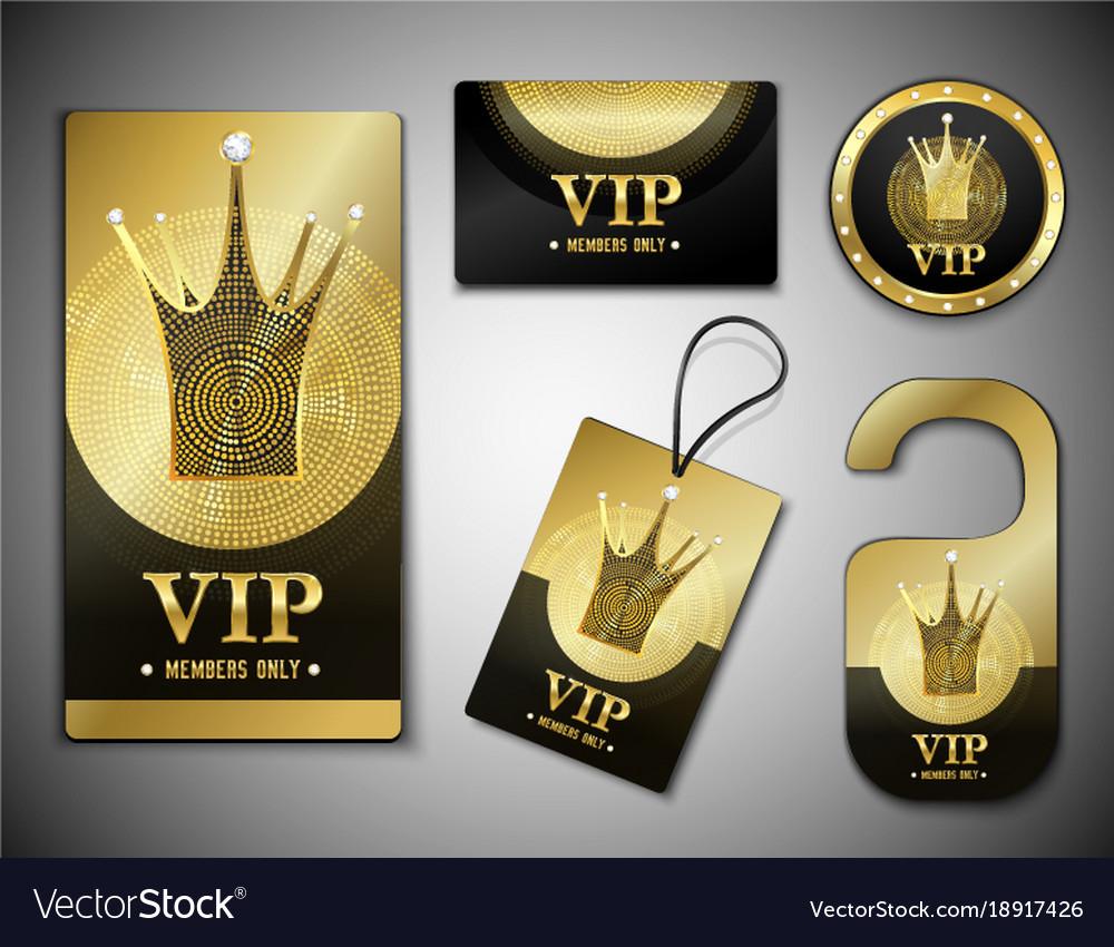 vip member elements design template royalty free vector