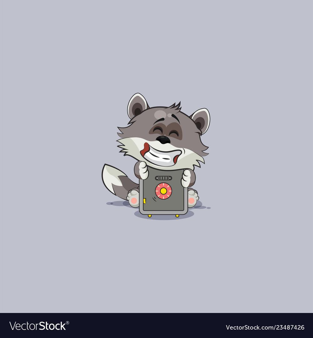 Wolf cub pup sticker emoticon hug safe with money