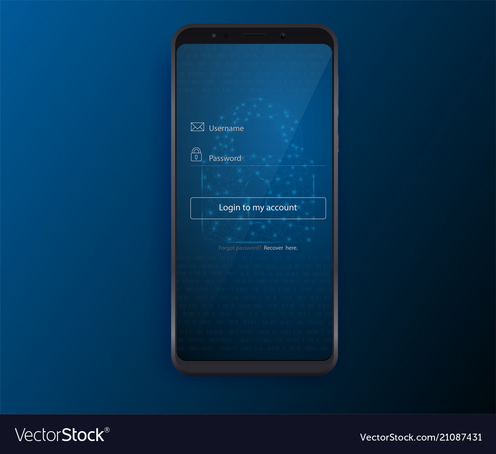 Clean mobile ui design concept login