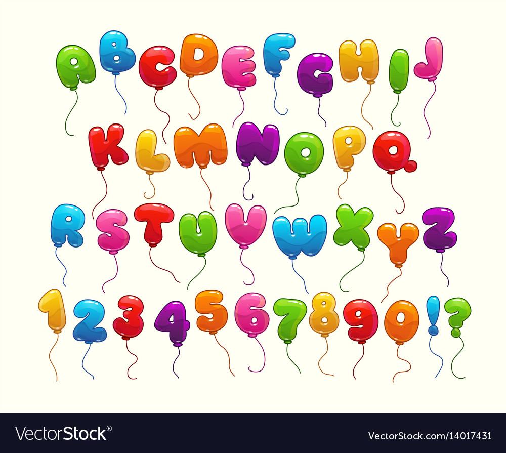 Funny balloon alphabet