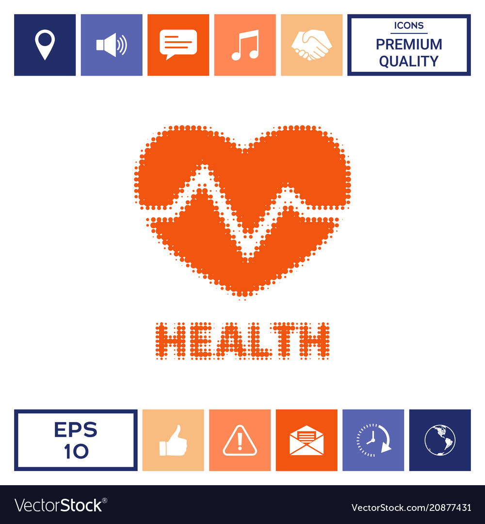 Heart symbol - halftone logo