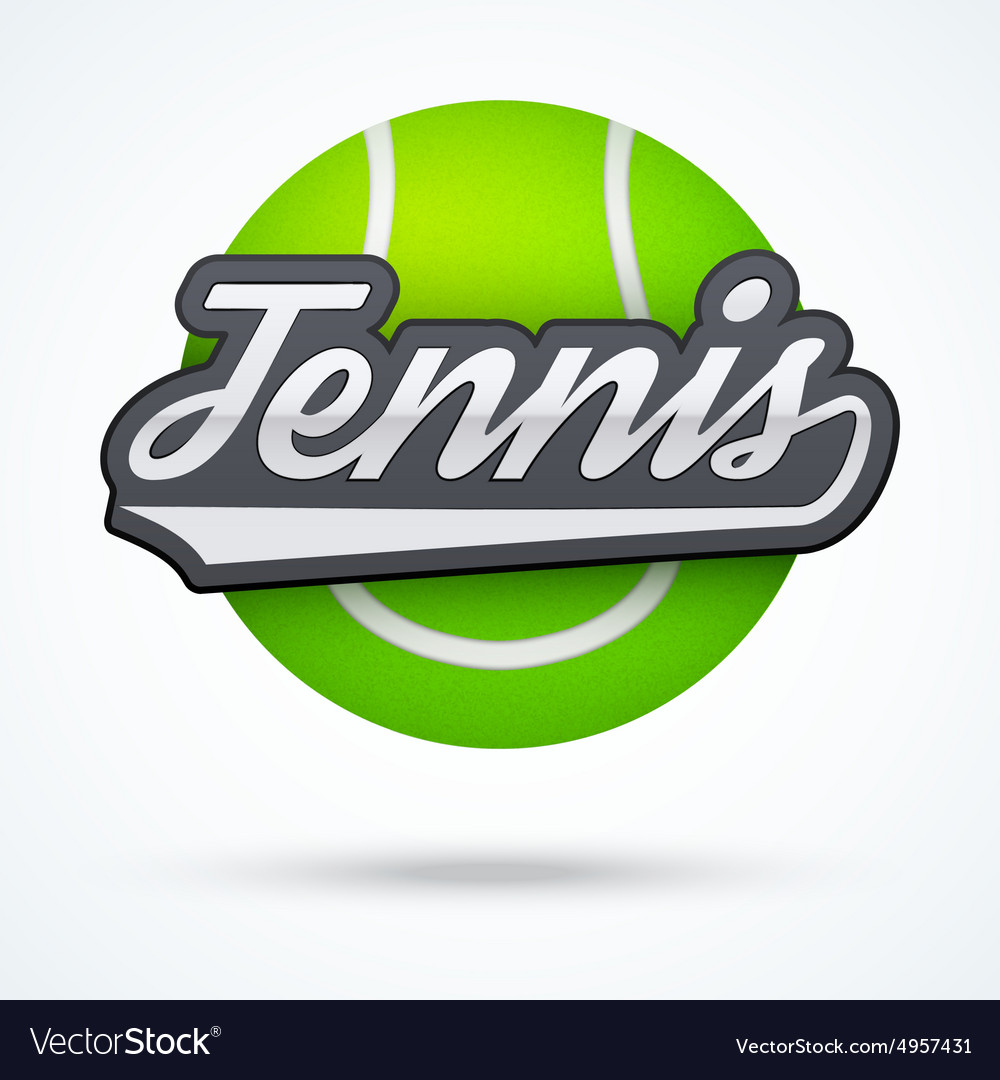 Premium Tennis label vector image