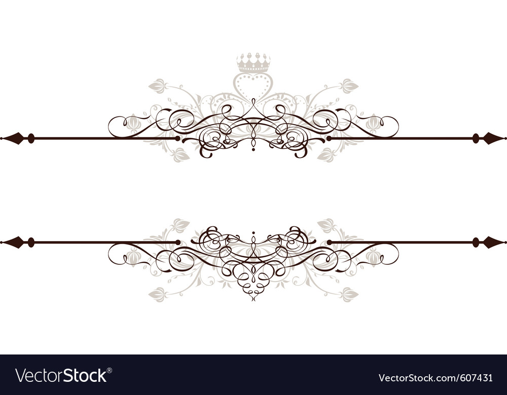 Vintage decorative text banner vector image