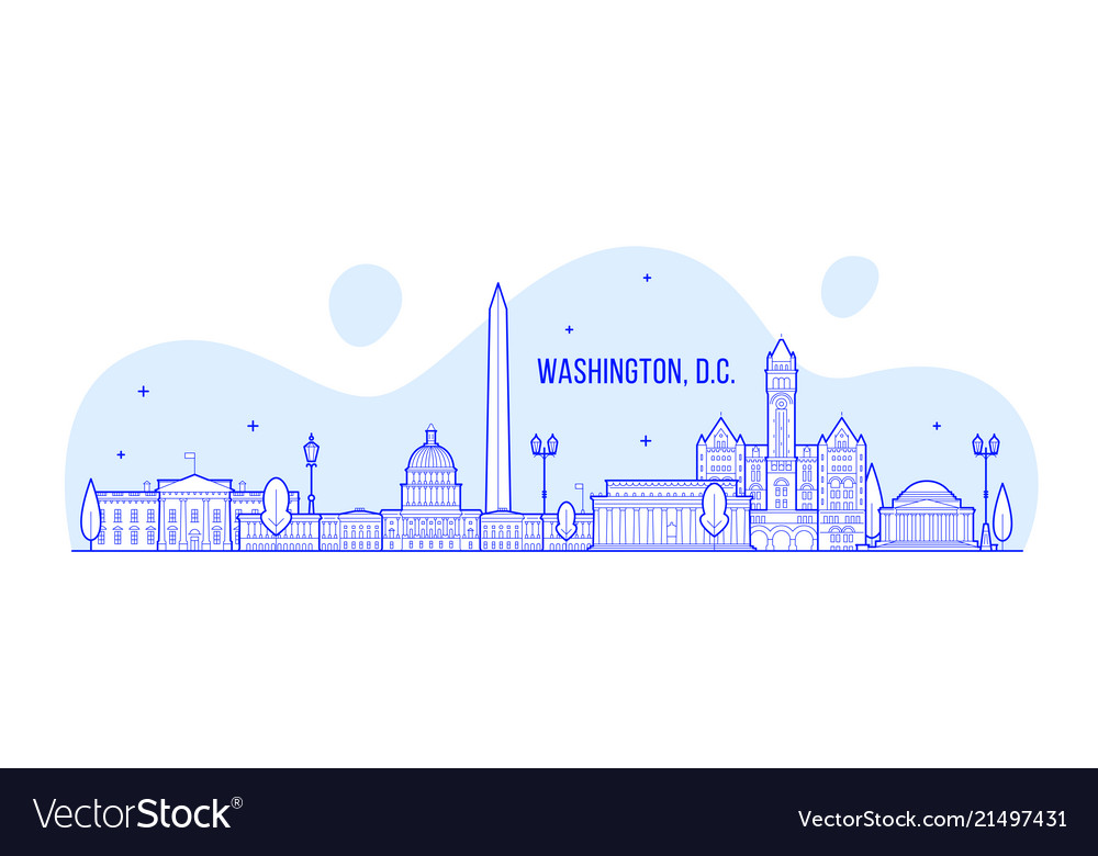 Washington d c skyline usa city building