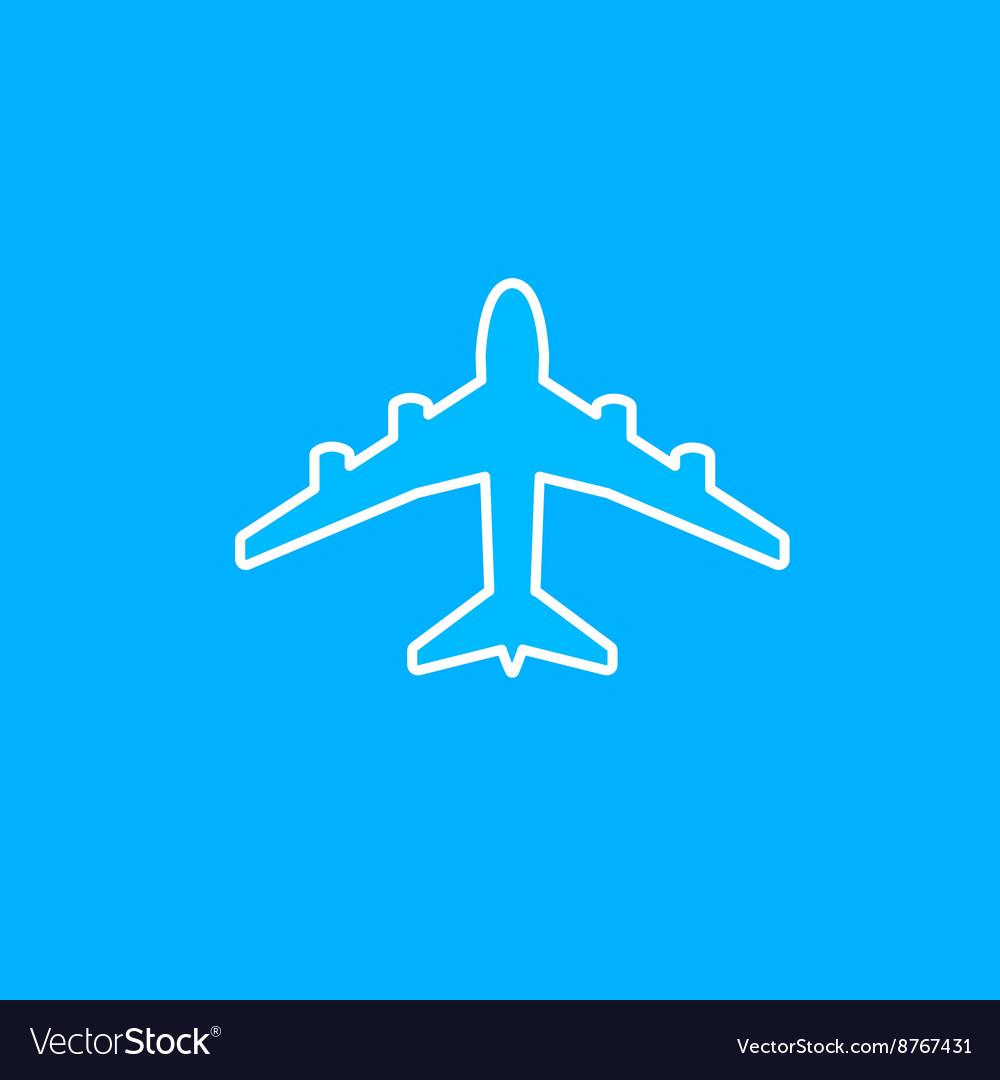 White paper plane icon