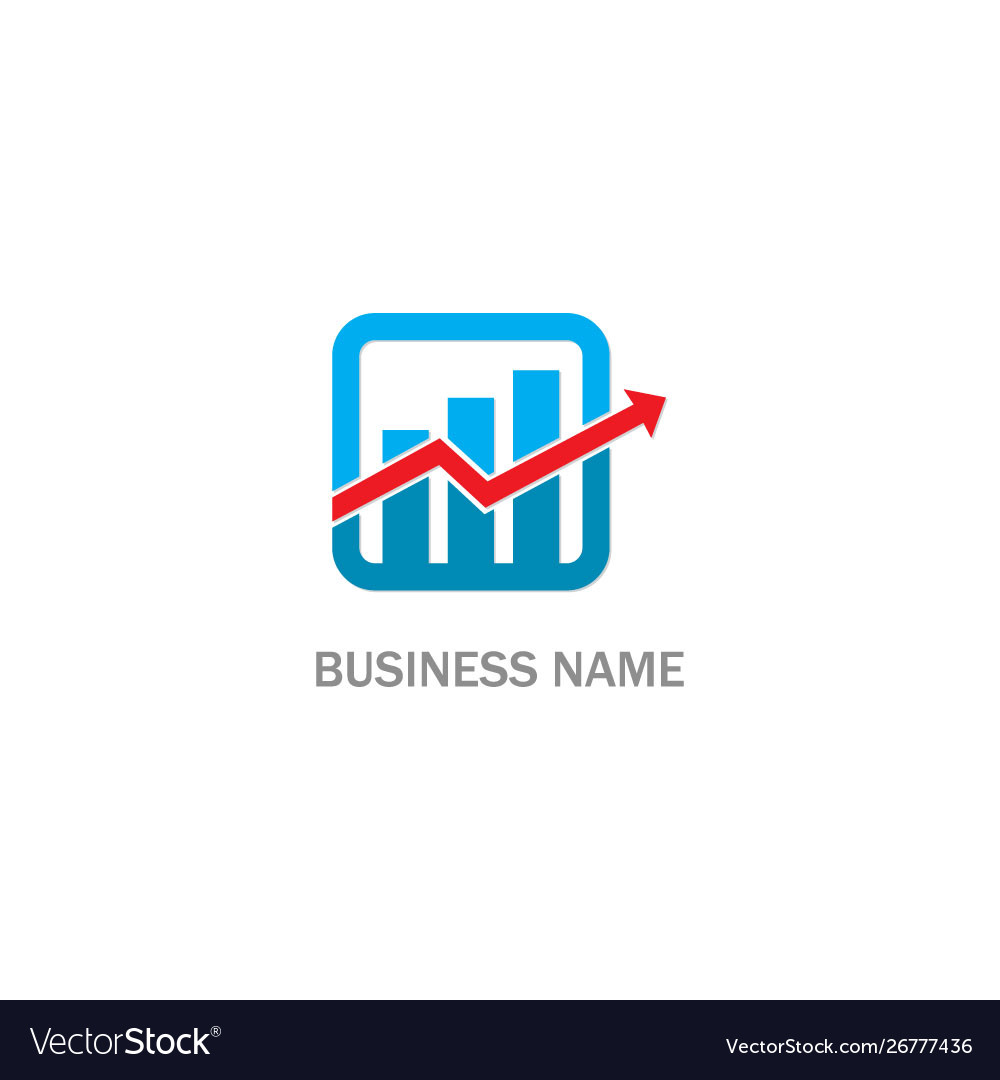 Business arrow progress economy logo