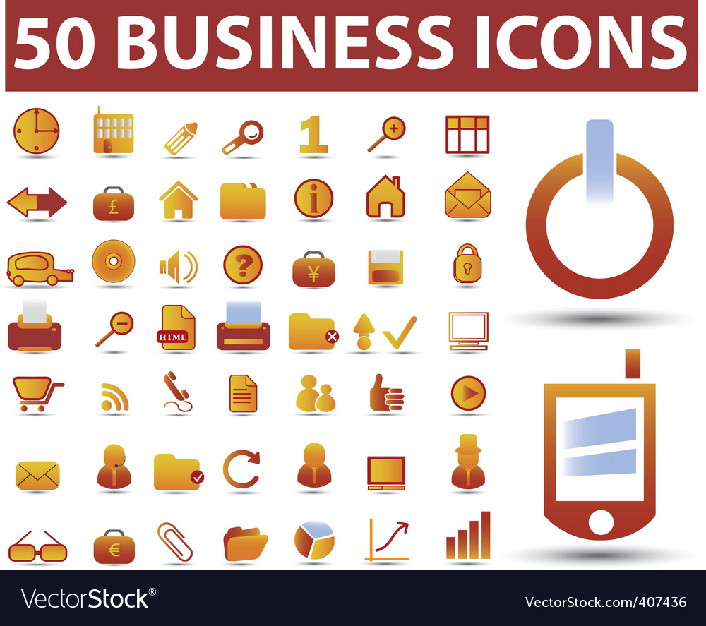 Business signs vector image