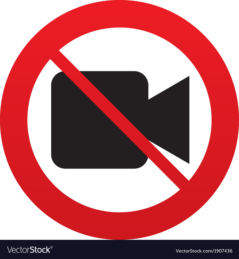dont shoot video video camera sign icon royalty free vector rh vectorstock com video camera icon vector instagram video icon vector
