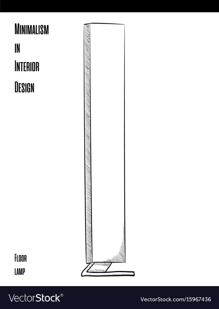 High rectangular floor lamp in a circuit on a vector image aloadofball Gallery