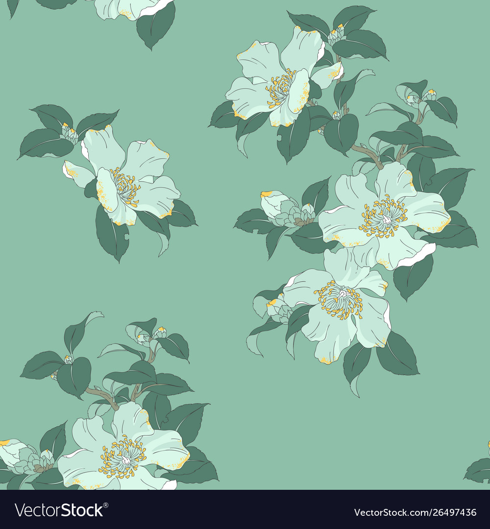 Modern Floral Seamless Pattern For Your Design Vector Image