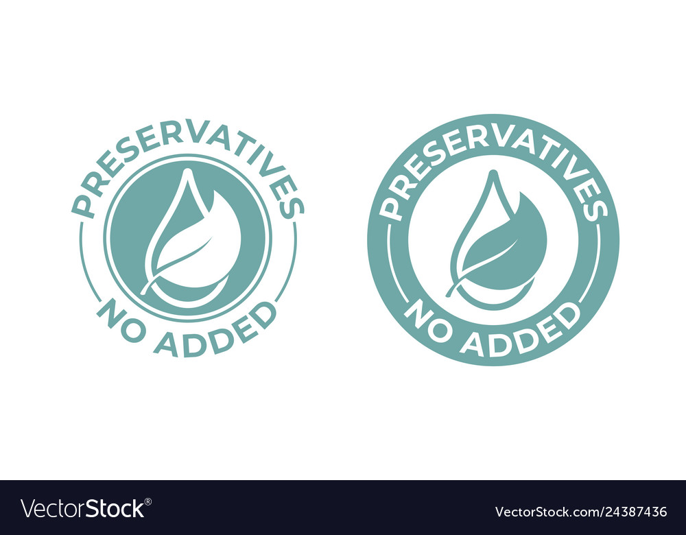 Preservatives no added leaf and drop icon natural