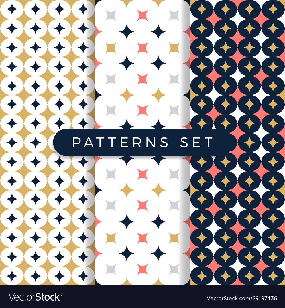 Star pattern set ornamental seamless space