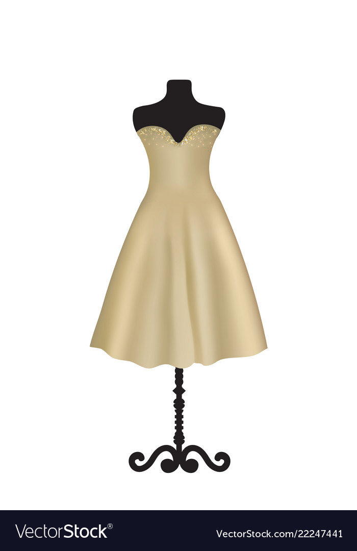 Brown elegant dress on mannequin