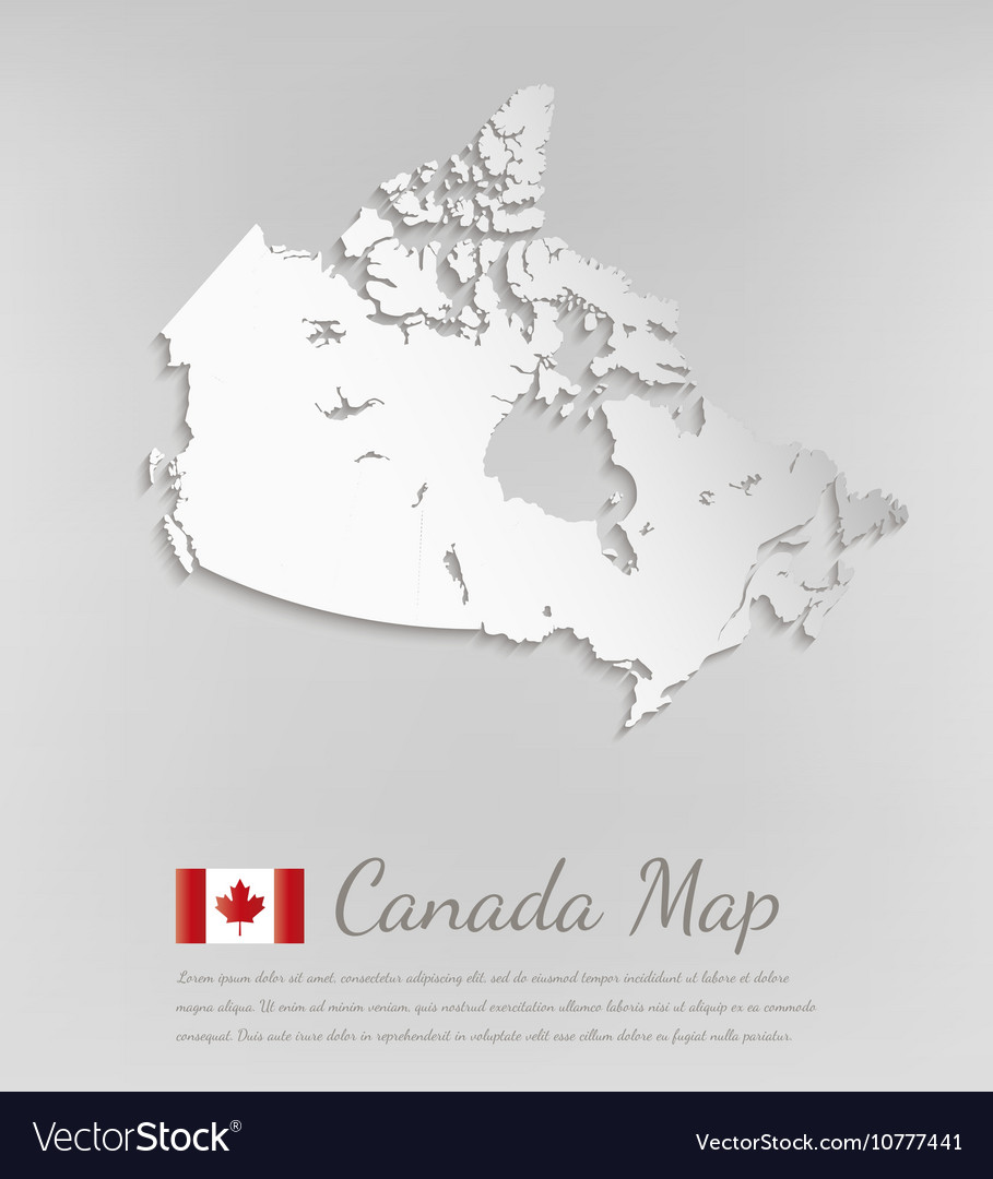 Map Of Canada 3d.Canada Map 3d Map With Smooth Shadow
