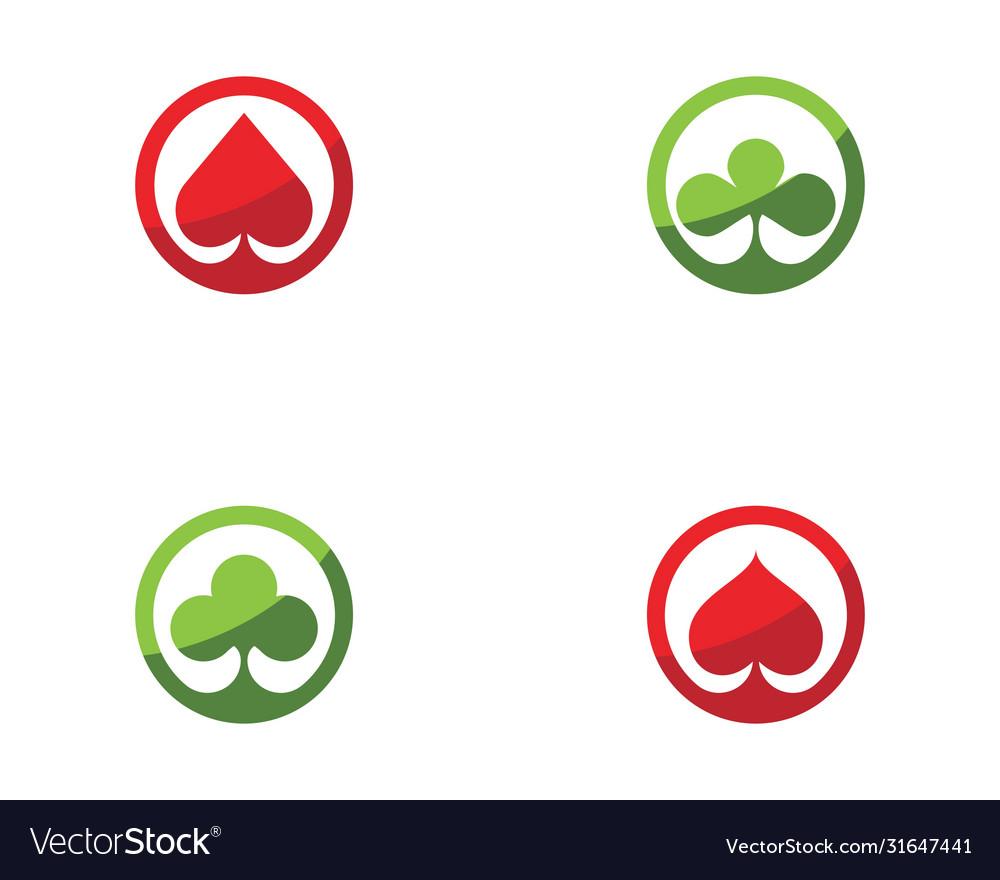 Casino card icon template