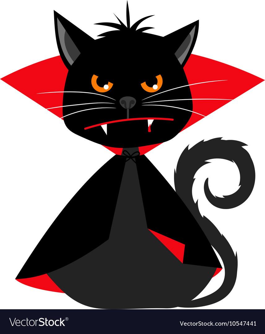 Cat vampire in Dracula carnival costume