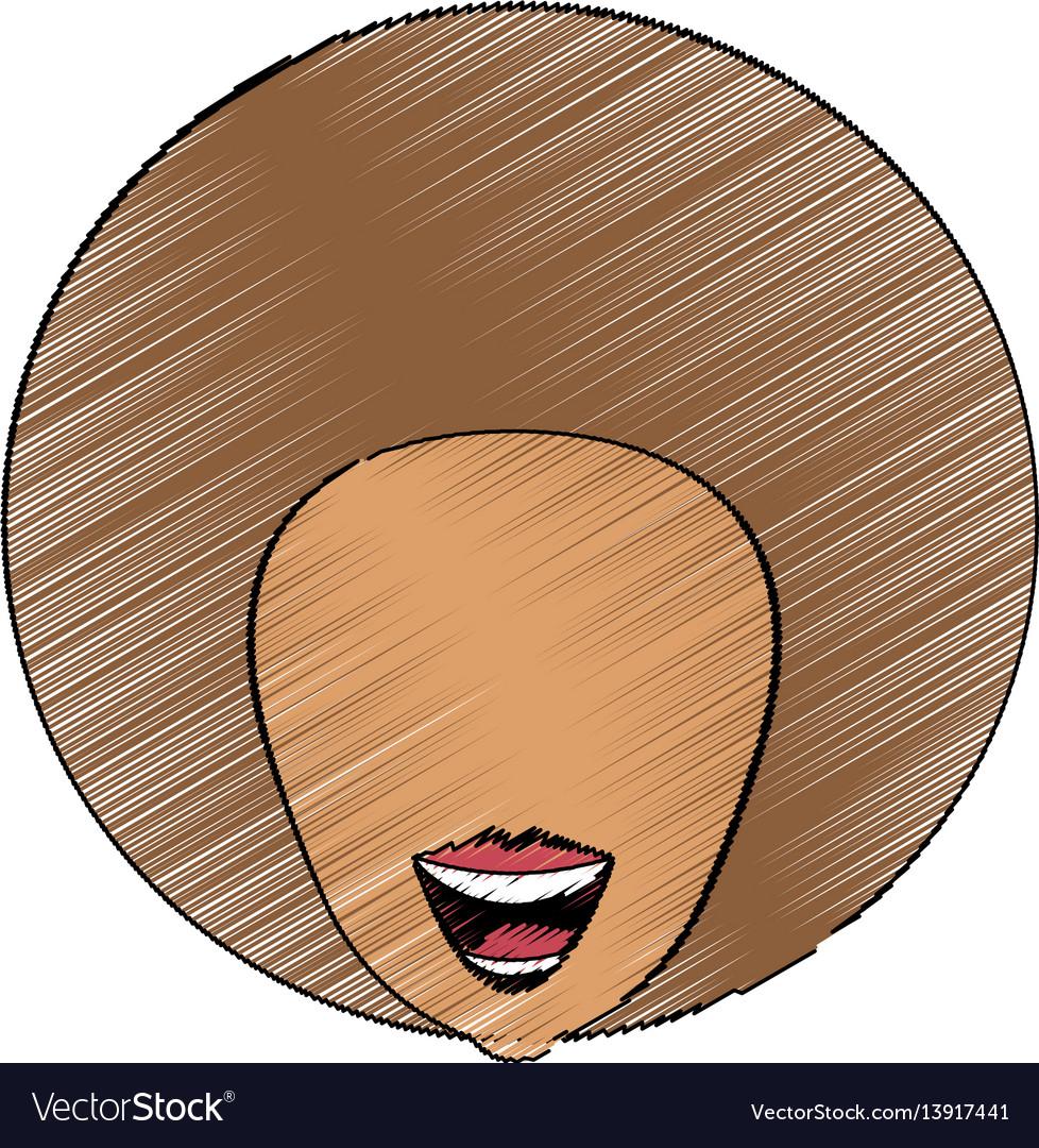 Drawing head woman image vector image