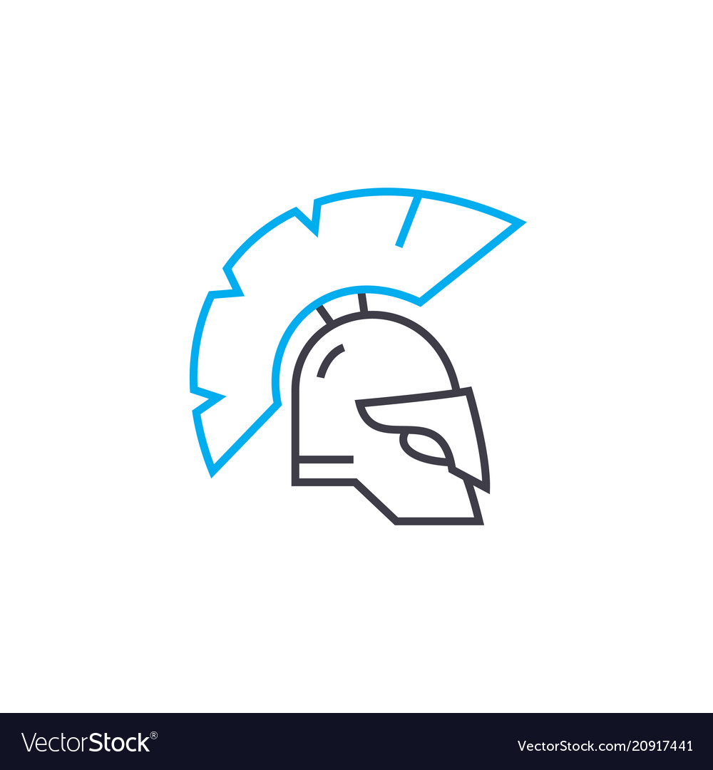 Knight armour linear icon concept knight armour
