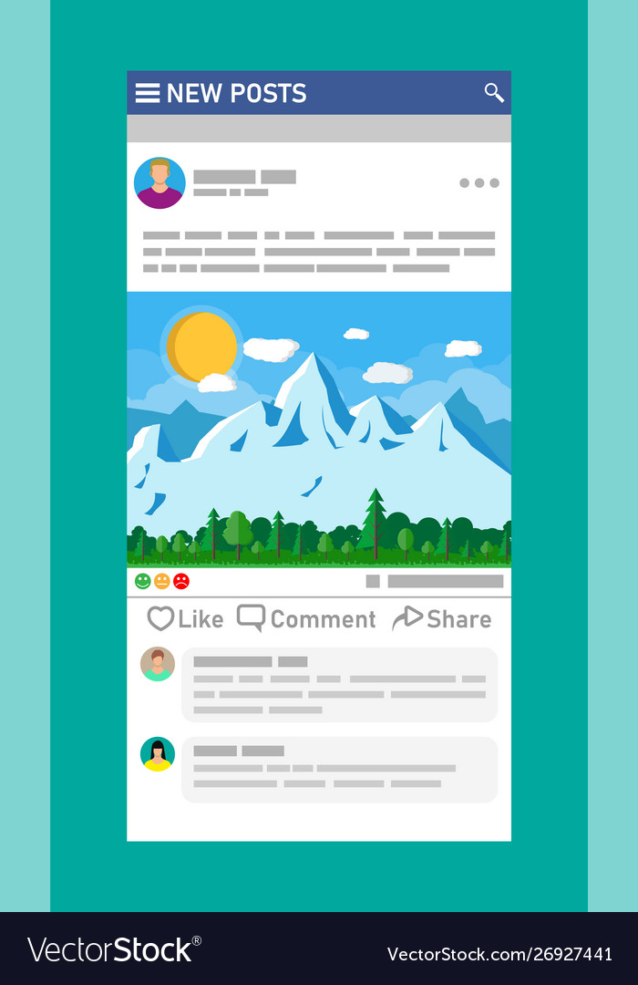 Social network interface template