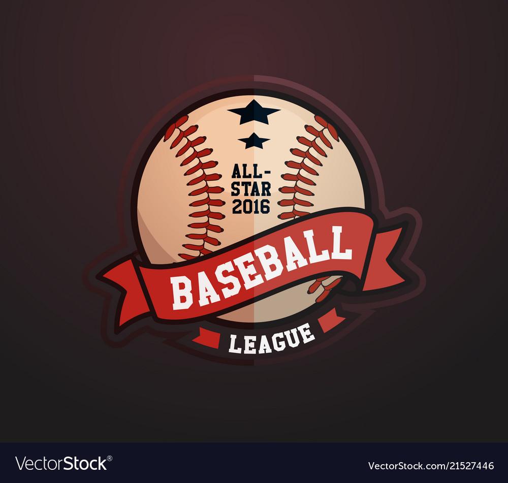 Baseball club badge sport logo template