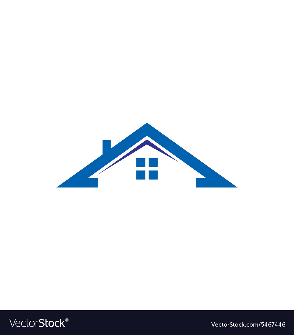 house roof construction realty logo royalty free vector