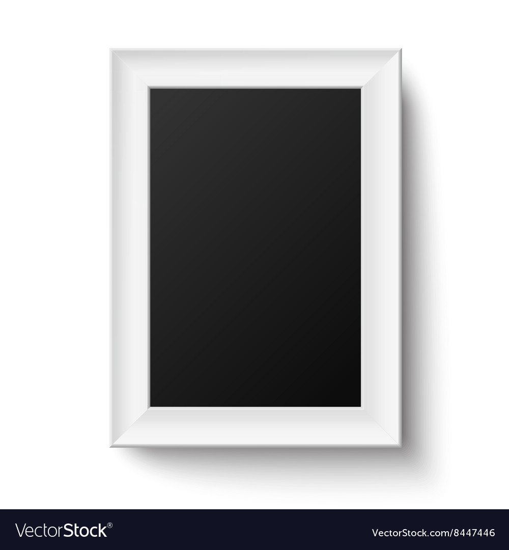 Vertical white A4 wooden frame