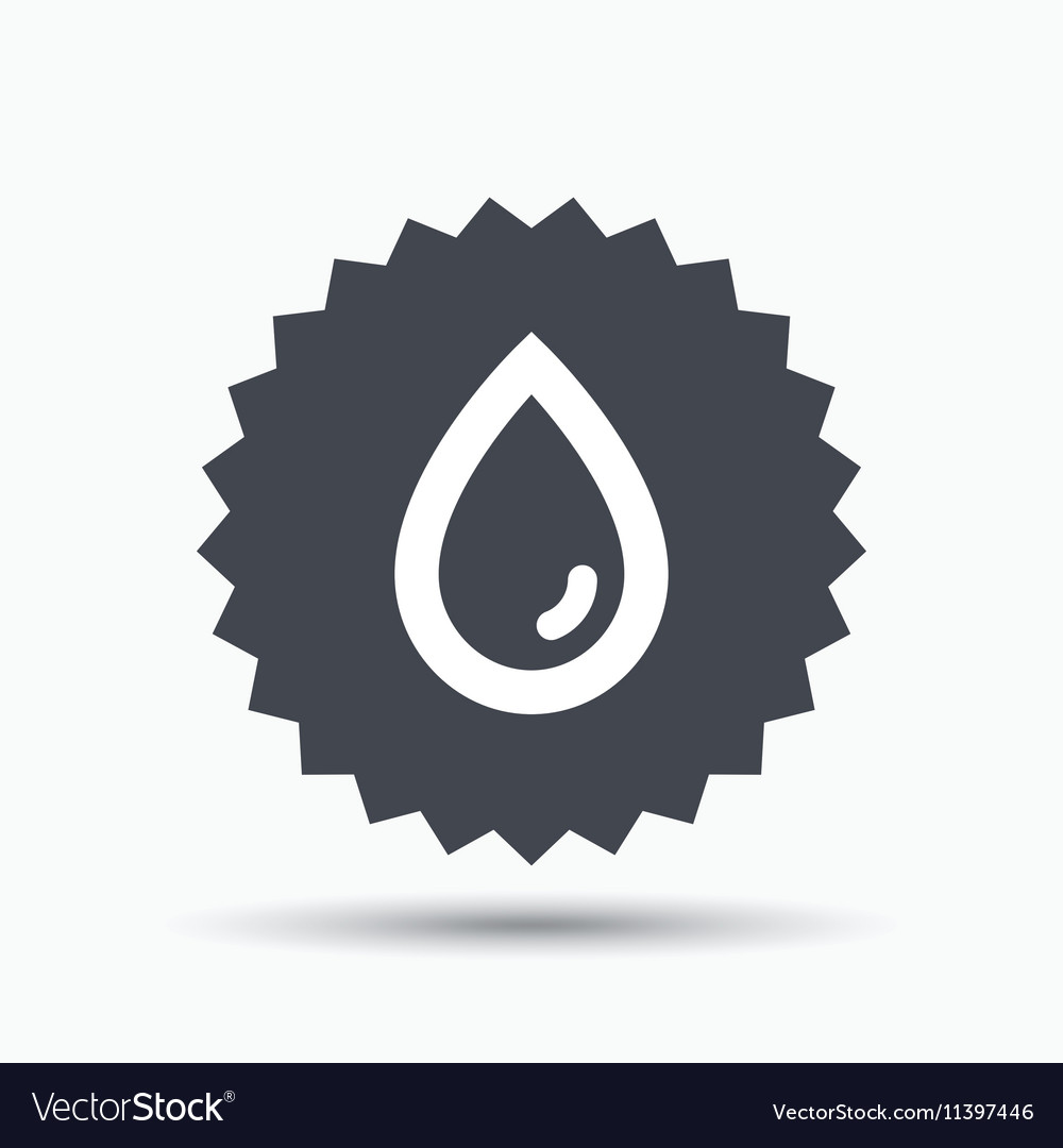Water drop icon Natural aqua sign vector image