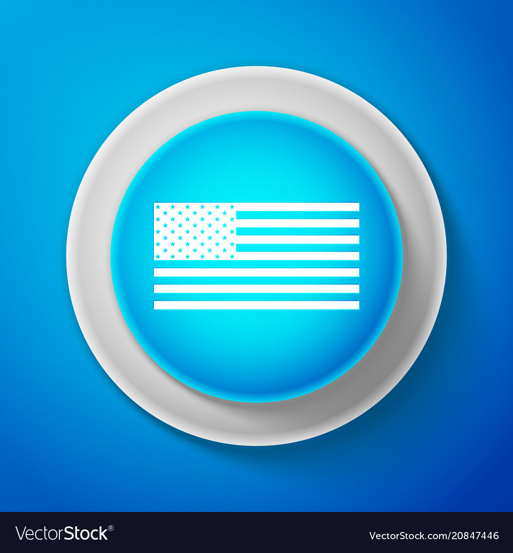 White american flag icon isolated flag of usa
