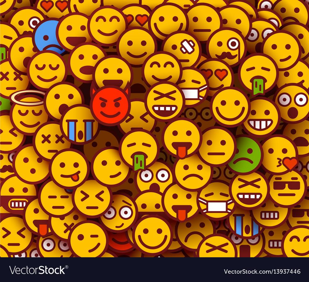 Yellow smiles background emoji texture