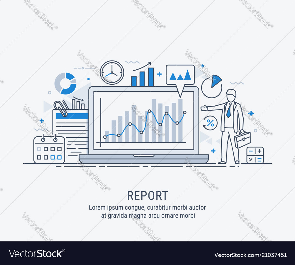 A manager reporting marketing show graphs