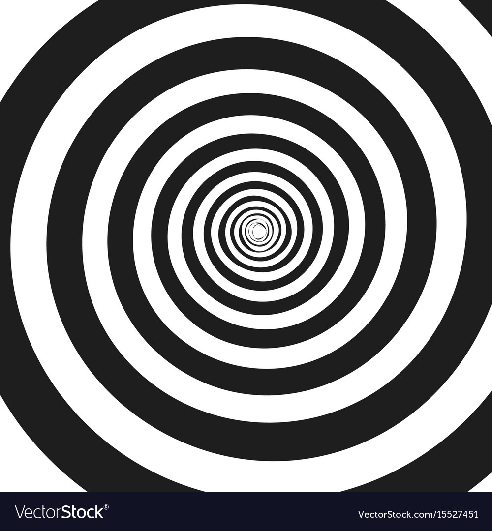 Abstract monochrome spiral