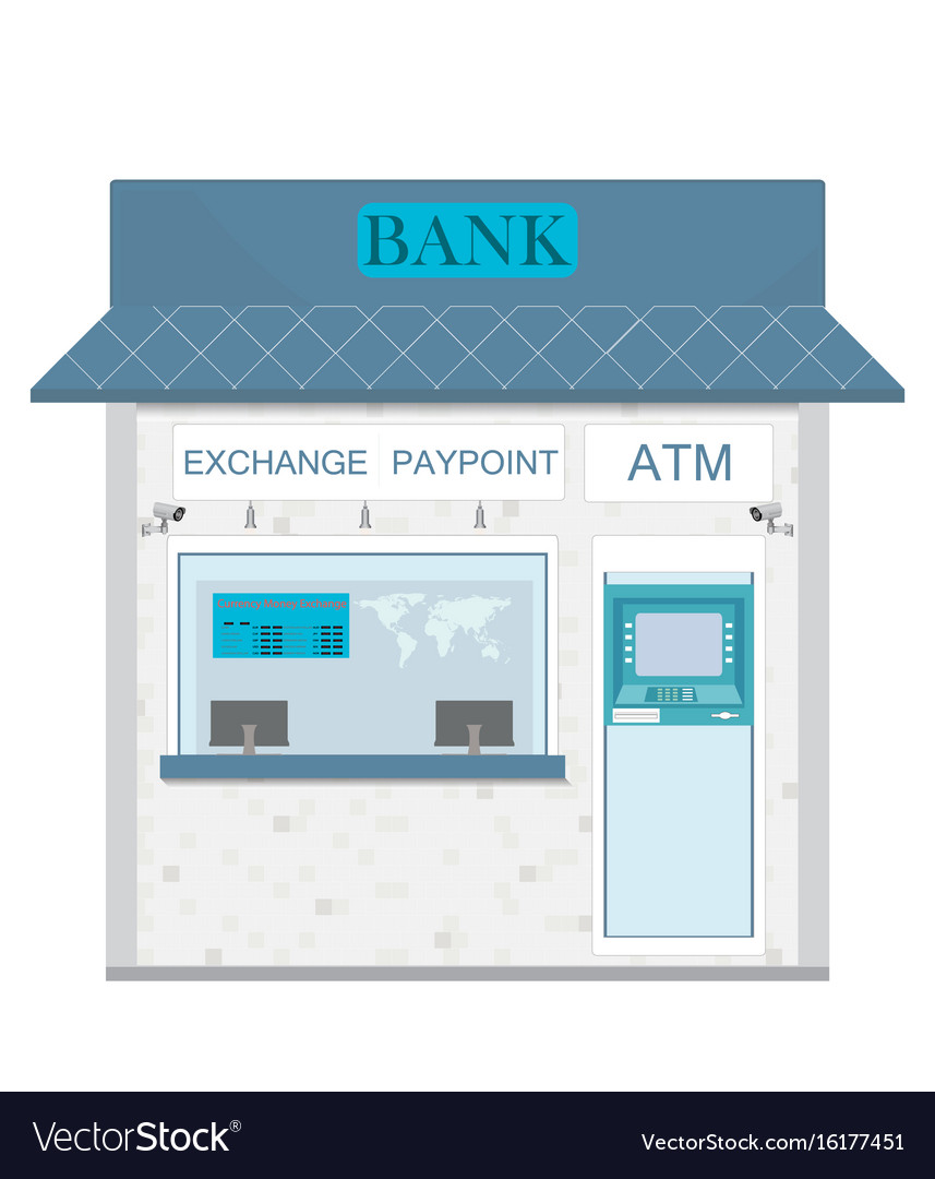 Bank counter currency exchange service and atm