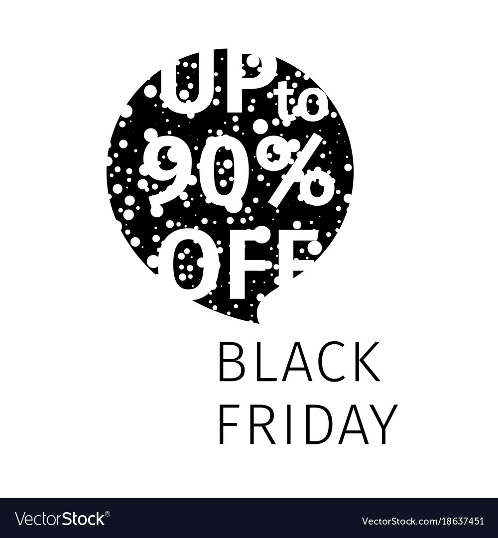Black friday sale banner speech bubble vector image