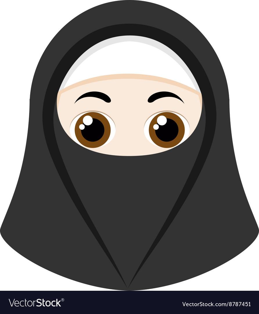 Cartoon girl with niqab