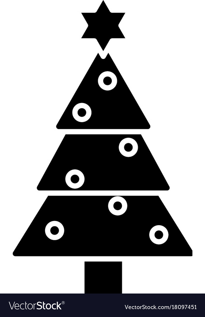 Christmas Tree Icon Black