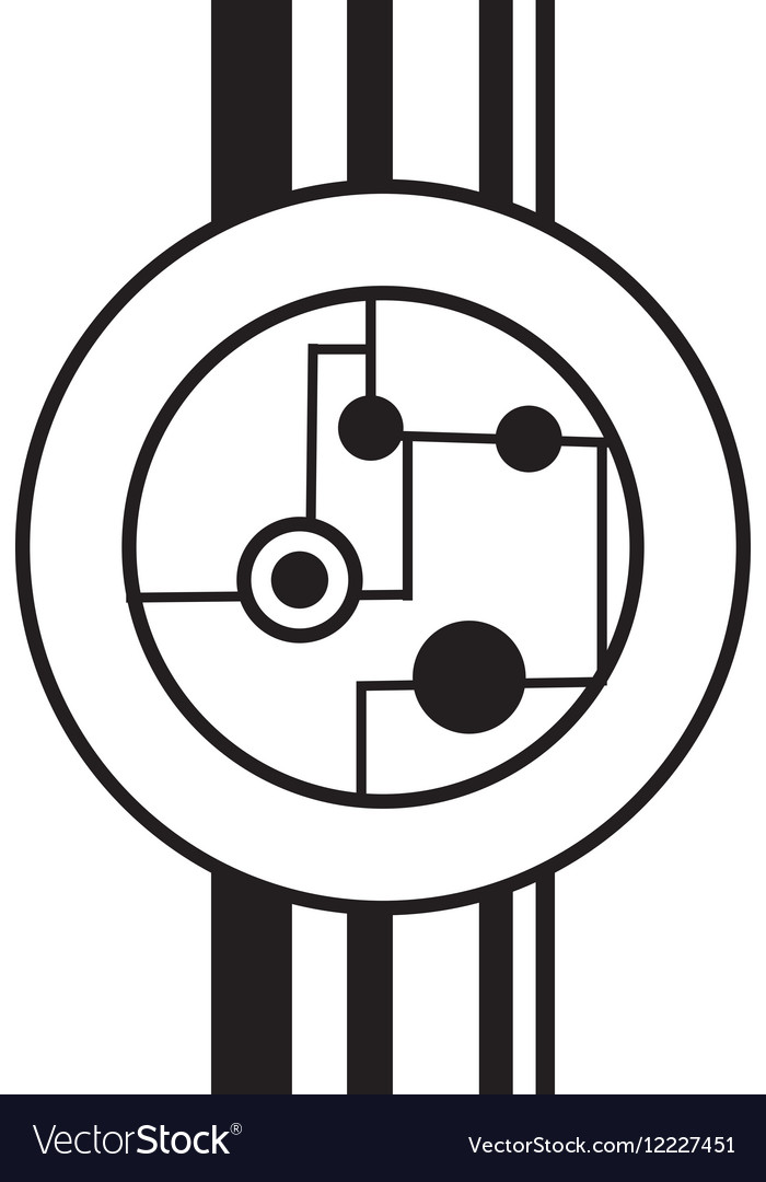 Circuit electronic sphere hardware linear vector image