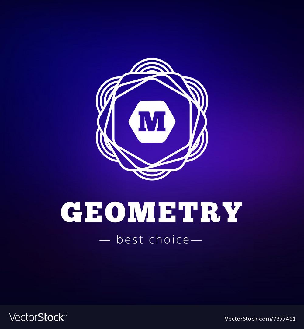 Geometric flower style monogram logo on
