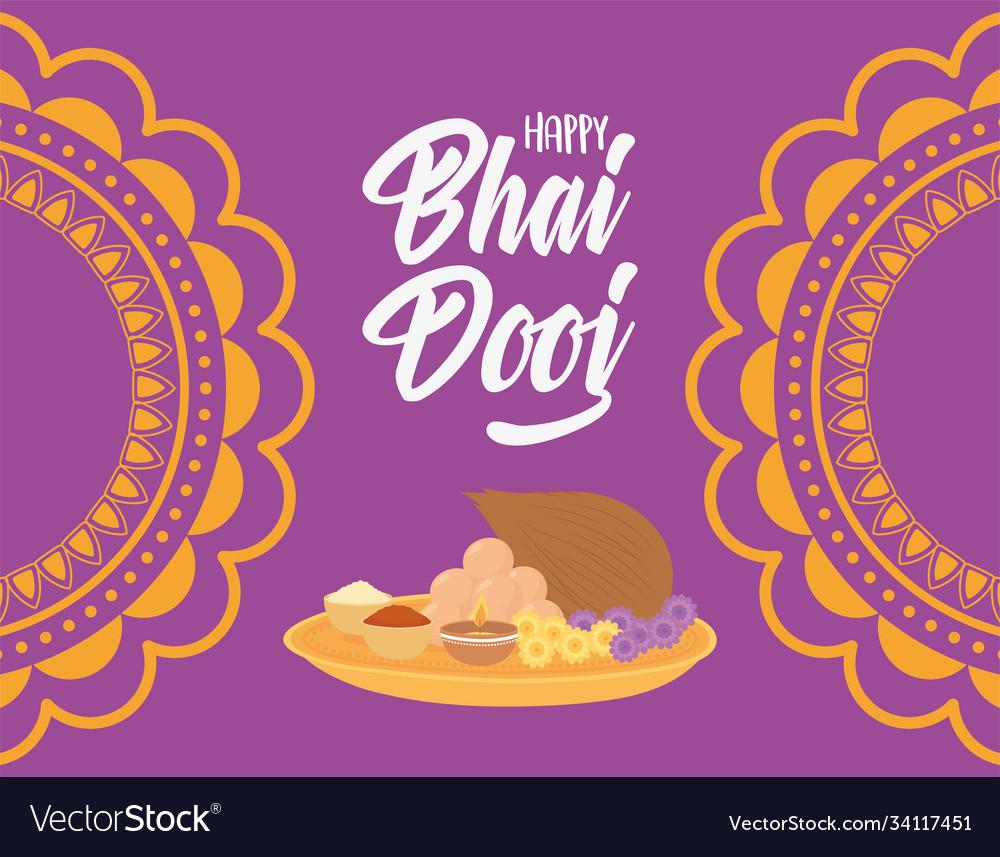 Happy bhai dooj indian celebration ceremony