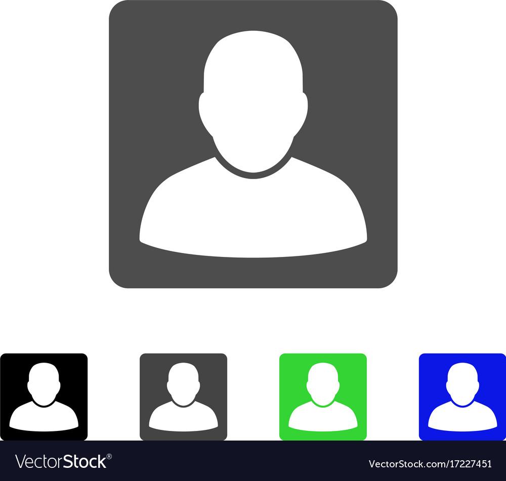 Man vcard flat icon